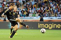 Fotball<br /> VM 2010<br /> Tyskland v Argentina<br /> 03.07.2010<br /> Foto: Witters/Digitalsport<br /> NORWAY ONLY<br /> <br /> 4:0 Tor Miroslav Klose (Deutschland)<br /> Fussball WM 2010 in Suedafrika, Viertelfinale Argentinien - Deutschland
