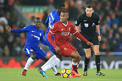 25 November 2017 -  Premier League - Liverpool v Chelsea - Daniel Sturridge of Liverpool in action with N'Golo Kante of Chelsea - Photo: Marc Atkins/Offside