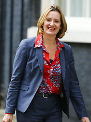File photo dated 13/07/16 of Amber Rudd as she leaves 10 Downing Street, London, after being appointed as Home Secretary. Prime Minister Theresa May has accepted the resignation of the Home Secretary, Downing Street has said.
