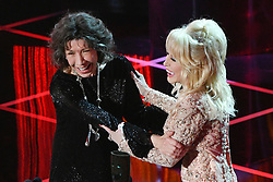 January 29, 2017 - Los Angeles, California, U.S. - LILY TOMLIN accepts the award for Lifetime Achievement  from DOLLY PARTON at the 23nd Annual Screen Actors Guild Awards. (Credit Image: © David Crane/Los Angeles Daily News via ZUMA Wire)