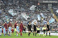 ingresso in campo squadre. Atmosphere <br /> Roma 04-12-2016 Stadio Olimpico Football <br /> Campionato Serie A 2016/2017 <br /> Lazio - AS Roma <br /> Foto Andrea Staccioli / Insidefoto