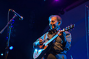 Nelson Gonzalez, lead guitarist for Eddie Palmieri on stage at Celebrate Brooklyn!