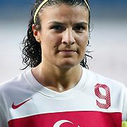 Turkey's Bilgin DEFTERLI during their UEFA 2013 Woman's Euro Qualifying Group Stage Group 2 soccer match Turkey betwen Spain at Kasimpasa Recep Tayyip Erdogan stadium in Istanbul September 17, 2011. Photo by TURKPIX