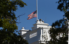 The U.S. flag flies at half-staff over the White House - 2 Oct 2017
