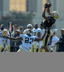 July 28, 2018 - New Orleans, LA, U.S. - METAIRIE, LA. - JULY 28:  New Orleans Saints wide receiver Tre'Quan Smith (10) and defensive back Natrell Jamerson (27) run through a drill during New Orleans Saints training camp practice on July 28, 2018 at the Ochsner Sports Performance Center in New Orleans, LA.  (Photo by Stephen Lew/Icon Sportswire) (Credit Image: © Stephen Lew/Icon SMI via ZUMA Press)