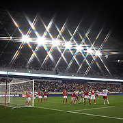 Markus Holgersson, New York Red Bulls scores from a Thierry Henry corner during the New York Red Bulls V Toronto FC  Major League Soccer regular season match at Red Bull Arena, Harrison. New Jersey. USA. 29th September 2012. Photo Tim Clayton