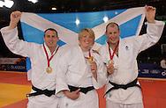 Commonwealth Games, Glasgow 2014<br />  26.07.2014<br /> SECC Judo<br /> Gold Medal<br /> Euan Burton, Sarah Adlington and Christopher Sherrington<br /> <br />  Neil Hanna Photography<br /> www.neilhannaphotography.co.uk<br /> 07702 246823