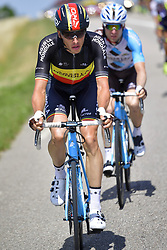 July 4, 2017 - Mondorf Les Bains / Vittel, Luxembourg / France - VITTEL, FRANCE - JULY 4 : NAESEN Oliver (BEL) Rider of Team AG2R La Mondiale and BAKELANTS Jan (BEL) Rider of Team AG2R La Mondiale in action during stage 4 of the 104th edition of the 2017 Tour de France cycling race, a stage of 207.5 kms between Mondorf-Les-Bains and Vittel on July 04, 2017 in Vittel, France, 4/07/2017 (Credit Image: © Panoramic via ZUMA Press)
