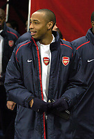 Photo: Olly Greenwood.<br />Arsenal v PSV Eindhoven. UEFA Champions League. Last 16, 2nd Leg. 07/03/2007. Arsenal's Thierry Henry starts on the bench