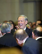 Former Govenor of New York, George Pataki arrives at Swearing-in of the Honorable David A. Patterson as 55th Governor of New York  at The New York State Capitol in the Assembly Chambers on March 17, 2008