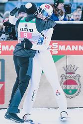 01.01.2020, Olympiaschanze, Garmisch Partenkirchen, GER, FIS Weltcup Skisprung, Vierschanzentournee, Garmisch Partenkirchen, Wertungssprung, im Bild v.l.: Johann Andre Forfang (NOR), Marius Lindvik (NOR) // f.l.: Johann Andre Forfang of Norway Marius Lindvik of Norway during the competition Jump for the Four Hills Tournament of FIS Ski Jumping World Cup at the Olympiaschanze in Garmisch Partenkirchen, Germany on 2020/01/01. EXPA Pictures © 2019, PhotoCredit: EXPA/ Dominik Angerer