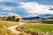 Country road, Gros Ventre River Valley, Jackson Hole Wyoming