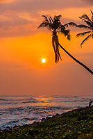 Sunset, south coast of Sri Lanka at Ahangama.