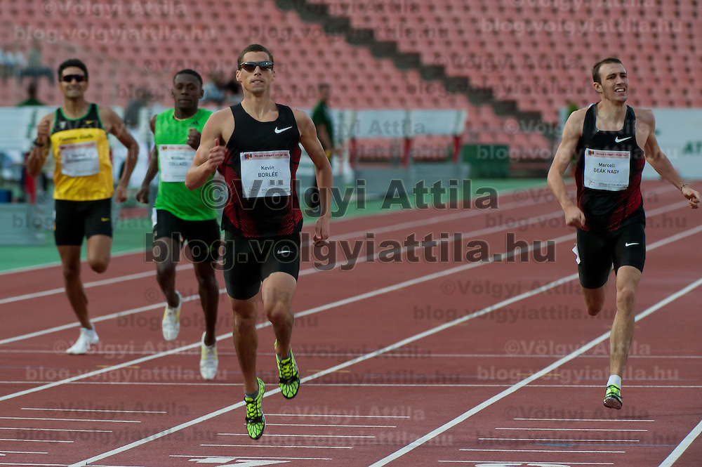 Kevin Borlee from Belgium wins the 400m men's running competition with 45.91 during Istvan Gyulai Memorial Hungarian Athletics Grand Prix 2011, in the Ferenc Puskas Stadium in Budapest, Hungary on July 30, 2011. ATTILA VOLGYI