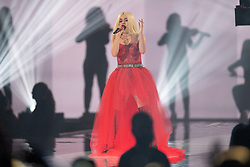 Ava Max performs on stage during the MTV EMAs 2019 at FIBES Conference and Exhibition Centre on November 03, 2019 in Seville, Spain.<br /> Photo by David Niviere/ABACAPRESS.COM