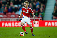 Middlesbrough midfielder Adam Clayton (8)  on the ball  during the The FA Cup match between Middlesbrough and Sheffield Wednesday at the Riverside Stadium, Middlesbrough, England on 8 January 2017. Photo by Simon Davies.