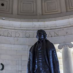 Washington, DC, USA - April 11, 2013: President Thomas Jefferson's Statue at the Jefferson Memorial in Washington DC.