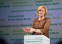 DEU, Deutschland, Germany, Berlin, 17.01.2019: Bundeslandwirtschaftsministerin Julia Klöckner (CDU) bei der Eröffnung der Internationalen Grünen Woche (IGW) im CityCube, Messe Berlin.