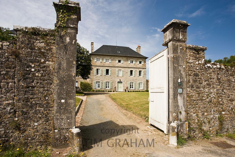Heritage Foundation house in Rue de la Hauteur at Regneville-Sur-Mer, Normandy, France