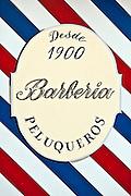 Barber shop sign, Madrid, Spain