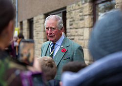 The Duke of Rothesay as he leaves a reception in the workspace of the family owned and run business of Hawico, to celebrate British Industry in Hawick. Also present were local businesses from the initiative 'Famously Hawick'.