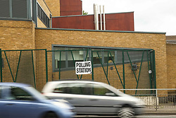 June 8, 2017 - London, United Kingdom - Polling station in Woolwich South-East London opens for people to cast their votes in the UK general election. (Credit Image: © Claire Doherty/Pacific Press via ZUMA Wire)