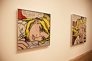 London, UK. Monday 18th February 2013. Lichtenstein: A Retrospective at  Tate Modern brings together 125 of artist Roy Lichtenstein's most definitive paintings and sculptures. Hopeless (1963)