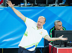 Jure Zdovc, head coach of Slovenia during basketball match between Slovenia vs Greece at Day 5 in Group C of FIBA Europe Eurobasket 2015, on September 9, 2015, in Arena Zagreb, Croatia. Photo by Vid Ponikvar / Sportida