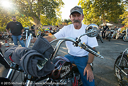 Stacy McCleary at the Born Free 6 bike show pre-party at Cooks Corner. Trabuco Canyon, CA. USA. June 27, 2014.  Photography ©2014 Michael Lichter.