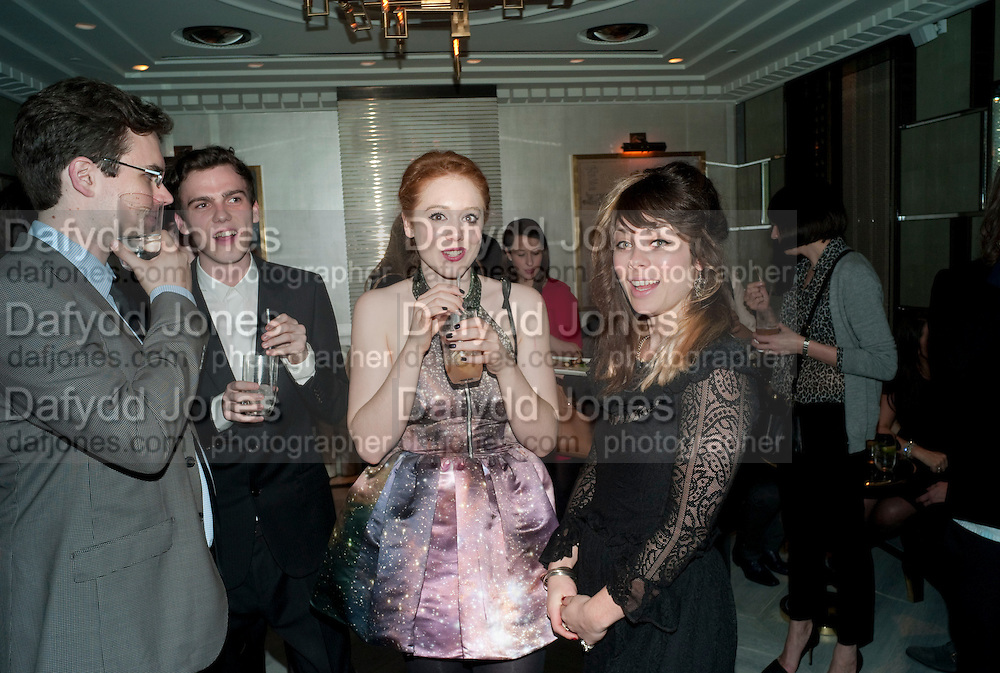 DANIELLE EMERSON; ADELLE THOMAS, GQ Style party, The Bassoon Bar , The Corinthia Hotel, Whitehall Place London. 15 March 2011.  -DO NOT ARCHIVE-© Copyright Photograph by Dafydd Jones. 248 Clapham Rd. London SW9 0PZ. Tel 0207 820 0771. www.dafjones.com.