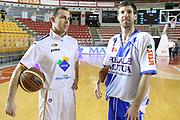 DESCRIZIONE : Roma Campionato Lega A 2013-14 Acea Virtus Roma Banco di Sardegna Sassari<br /> GIOCATORE :  Drake Diener Jimmy Baron<br /> CATEGORIA : fair play ritratto pre game<br /> SQUADRA : <br /> EVENTO : Campionato Lega A 2013-2014<br /> GARA : Acea Virtus Roma Banco di Sardegna Sassari<br /> DATA : 26/12/2013<br /> SPORT : Pallacanestro<br /> AUTORE : Agenzia Ciamillo-Castoria/M.Simoni<br /> Galleria : Lega Basket A 2013-2014<br /> Fotonotizia : Roma Campionato Lega A 2013-14 Acea Virtus Roma Banco di Sardegna Sassari <br /> Predefinita :