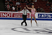 Ashley Cain an timothy Leduc from the USA competes in the Pairs Short Program during the ISU - Four Continents Figure Skating Championships, at the Honda Center in Anaheim California, February 5-10, 2019