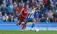 Brighton defender, full back, Liam Rosenior at full pace during the Sky Bet Championship match between Brighton and Hove Albion and Cardiff City at the American Express Community Stadium, Brighton and Hove, England on 3 October 2015.