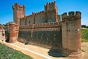SPAIN, CASTILE and LEON the Castillo de la Mota, an enormous 15th century castle built in 'Mudejar' style in the town of Medina del Campo