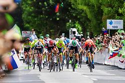 Jeppe PALLESEN of TEAM COLOQUICK, Matteo TRENTIN of UAE TEAM EMIRATES, Remy MERTZ of BINGOAL PAUWELS SAUCES, Jon ABERASTURI IZAGA of CAJA RURAL-SEGUROS RGA and Matej MOHORIC of BAHRAIN VICTORIOUS during 3rd Stage of 27th Tour of Slovenia 2021 cycling race between Brezice and Krsko (165,8 km), on June 11, 2021 in Slovenia. Photo by Matic Klansek Velej / Sportida