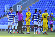 Barnsley's Mads Andersen (6) is sent off during the EFL Sky Bet Championship match between Reading and Barnsley at the Madejski Stadium, Reading, England on 19 September 2020.