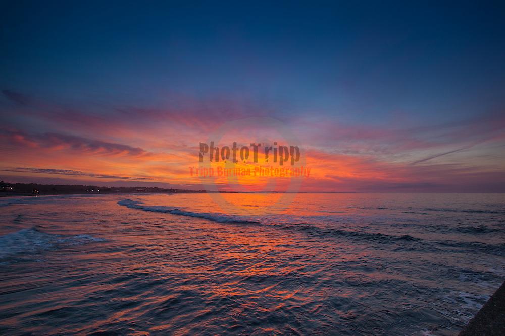 Today's  Summer Sunrise  at Narragansett Town Beach, Narragansett, RI,  June  18, 2013.