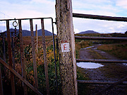 Farm Gate on South Uist, Hebrides.