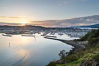 Sunset over Cape Sante Marina, Anacortes Washington