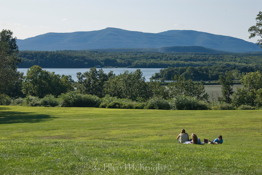 Students at Bard College Campus on the Hudson River