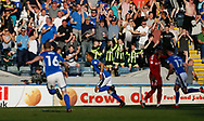 Goal celebration by Joe Thompson of Rochdale during the EFL Sky Bet League 1 match between Rochdale and Charlton Athletic at Spotland, Rochdale, England on 5 May 2018. Picture by Paul Thompson.