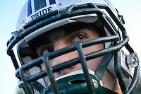 Senior running back Anthony Gargiulo is getting ready for his final football game of his high school career at Colts Neck./Russ DeSantis/For The Star Ledger / Editors Note: Gargiulo was sick and not suited up for practice. He had only flip flops on his feet. That did limit the shoot somewhat.