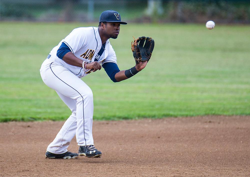 Jun 08, 2017 Vallejo, CA : Admirals # 20 Gerald Bautista  during the baseball game between Sonoma Stompers vs Vallejo Admirals 8-6 win at Wilson Park Vallejo, CA. Thurman James / TJP
