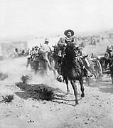 Doroteo Arango Arambula (1878-1923) known as Pancho Villa, Mexican revolutionary general, at Ojinaga, January, 1914