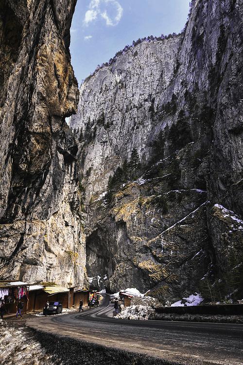 Road through Bicaz Gorge, Romania