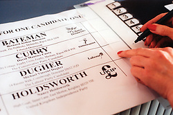 Voting in 2001 election UK