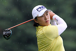 June 16, 2018 - Belmont, Michigan, United States - Amy Yang of Republic of Korea hits from the 5th tee during the third round of the Meijer LPGA Classic golf tournament at Blythefield Country Club in Belmont, MI, USA  Saturday, June 16, 2018. (Credit Image: © Amy Lemus/NurPhoto via ZUMA Press)