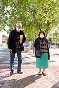 elderly couple during Covid 19 crisis and lockdown France Limoux April 2020