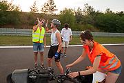 Iris Slappendel is blij na de geslaagde testrun. Het Human Power Team Delft en Amsterdam (HPT), dat bestaat uit studenten van de TU Delft en de VU Amsterdam, is in Senftenberg voor een poging het laagland sprintrecord te verbreken op de Dekrabaan. In september wil het Human Power Team Delft en Amsterdam, dat bestaat uit studenten van de TU Delft en de VU Amsterdam, tijdens de World Human Powered Speed Challenge in Nevada een poging doen het wereldrecord snelfietsen voor vrouwen te verbreken met de VeloX 7, een gestroomlijnde ligfiets. Het record is met 121,44 km/h sinds 2009 in handen van de Francaise Barbara Buatois. De Canadees Todd Reichert is de snelste man met 144,17 km/h sinds 2016.<br /> <br /> The Human Power Team is in Senftenberg, Germany to race at the Dekra track as a preparation for the races in America. With the VeloX 7, a special recumbent bike, the Human Power Team Delft and Amsterdam, consisting of students of the TU Delft and the VU Amsterdam, also wants to set a new woman's world record cycling in September at the World Human Powered Speed Challenge in Nevada. The current speed record is 121,44 km/h, set in 2009 by Barbara Buatois. The fastest man is Todd Reichert with 144,17 km/h.