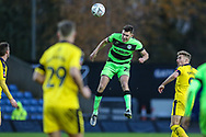 Forest Green Rovers Paul Digby(20) heads the ball during the The FA Cup 1st round match between Oxford United and Forest Green Rovers at the Kassam Stadium, Oxford, England on 10 November 2018.